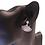 Dainty Crystal Fan Clip Earrings on model close up