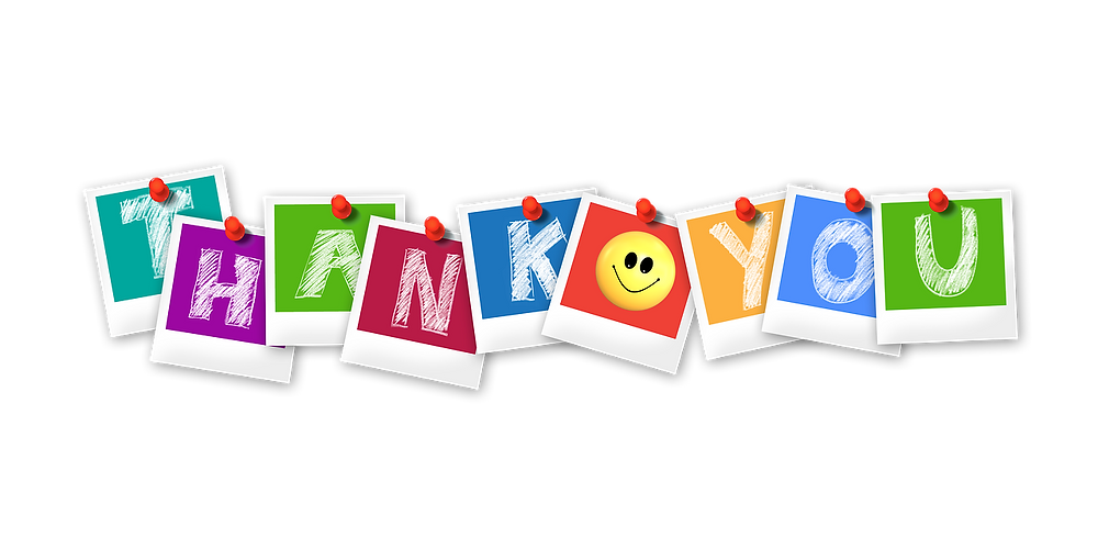 Colourful Thank You Banner