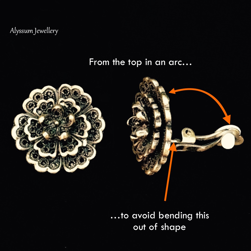 How to open and close a clip-on earring