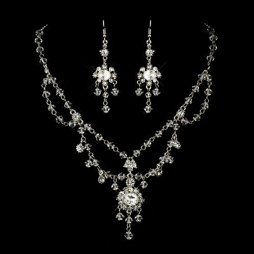 Antiqued Swarovski Crystal Necklace Set
