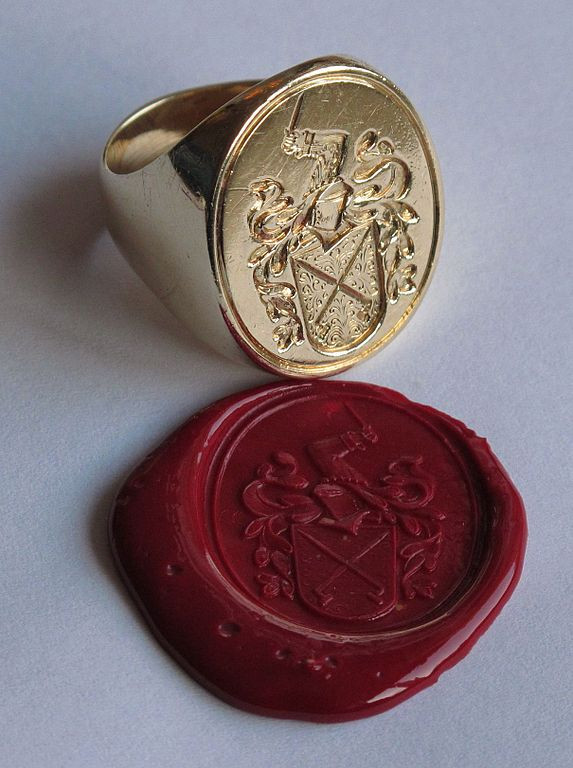 signet ring and wax seal