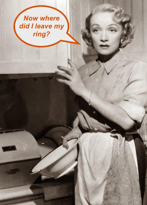 Marlene Dietrich in the kitchen