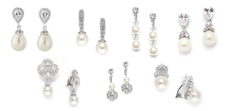 A selection of Pearl Clip On Earrings