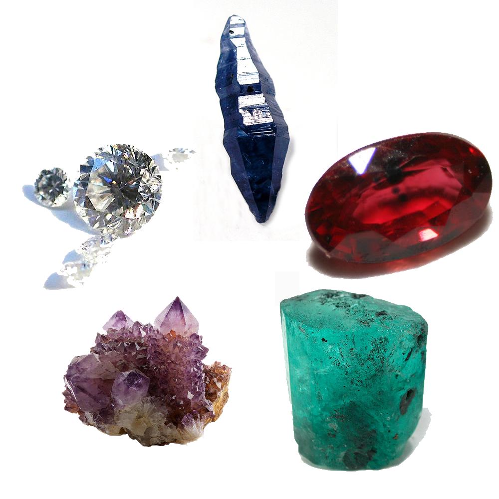 The major cardinal gemstones