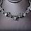 Silver Pear Drop Garland Necklace