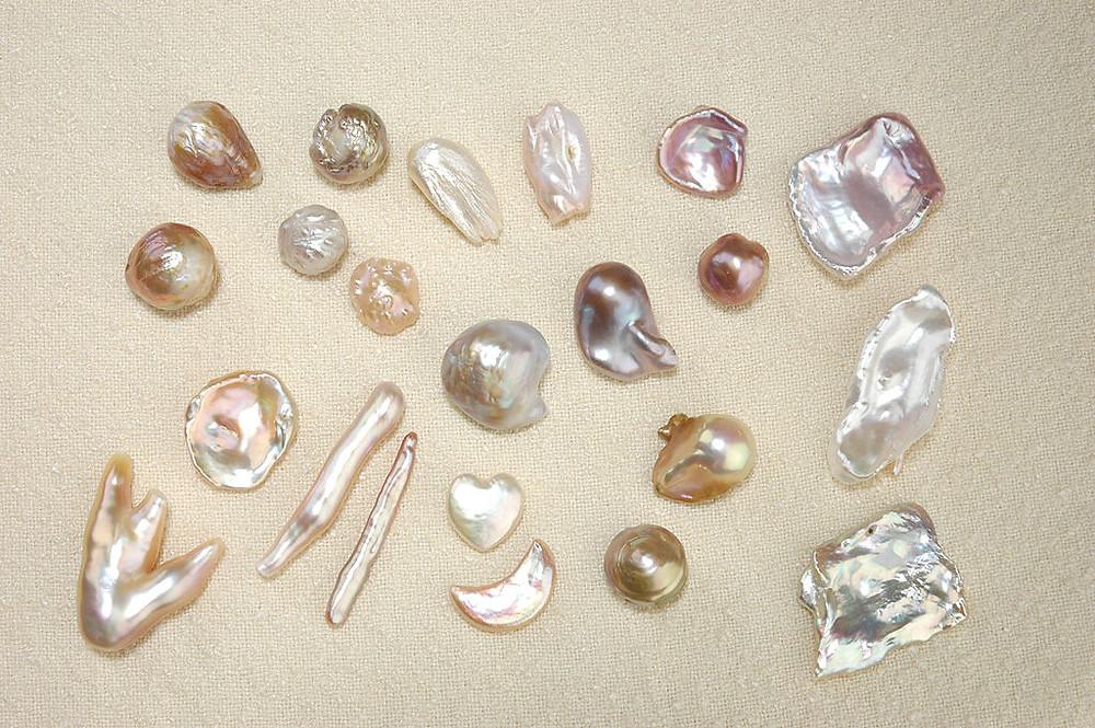 Variety of Keshi Pearls