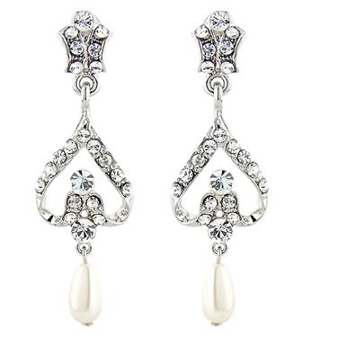 Elite Bridal Pearl Earrings