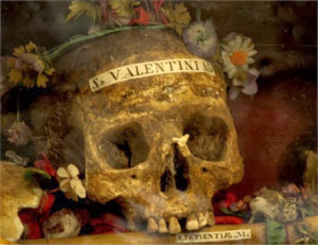 St Valentines Skull in the Basilica