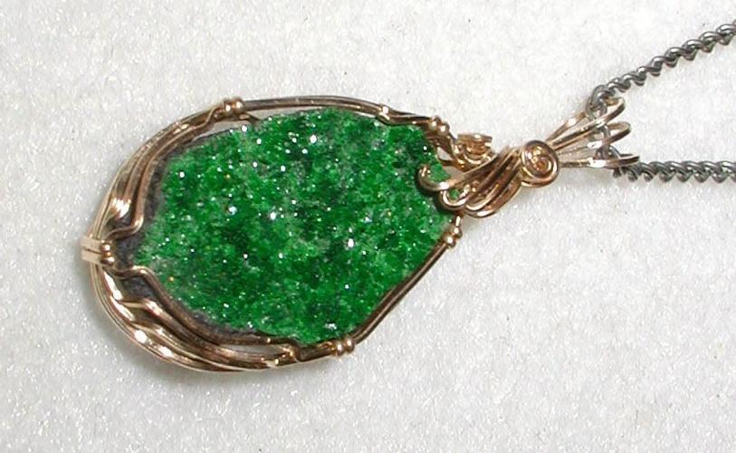 Uvarovite Green Garnet Pendant