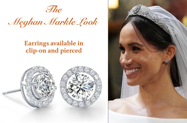 Meghan Markle Style Bridal Earrings