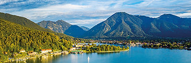 lake Tegernsee in the Alps of Bavaria. B
