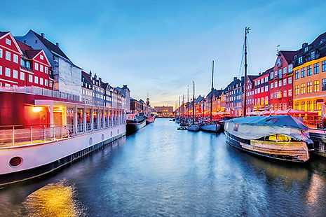 Nyhavn with colorful facades of old hous