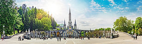 Panoramic View of Basilica Notre Dame in