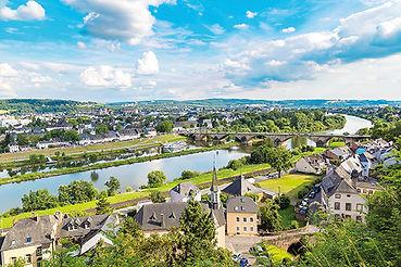 Panoramische Luftaufnahme von Trier in s