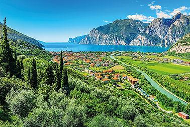 Beautiful sunny day on Lake Garda,Torbol