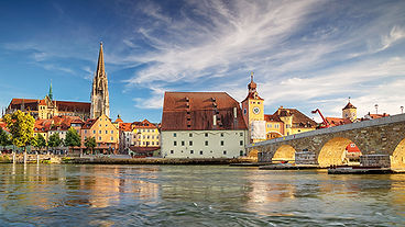 Regensburg, Germany. Panoramic cityscape
