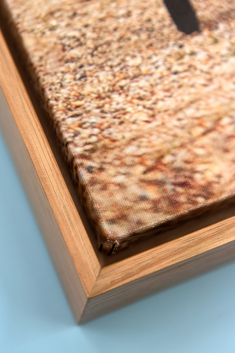 Canvas Boxed w/ Natural Oak close up