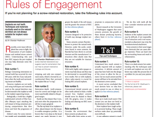 Nobel Biocare News: Rules of Engagement