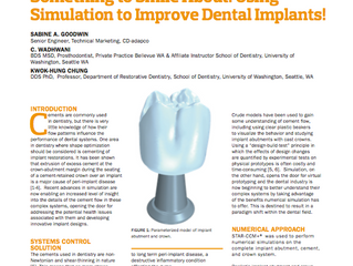 Using Simulation to Improve Dental Implants
