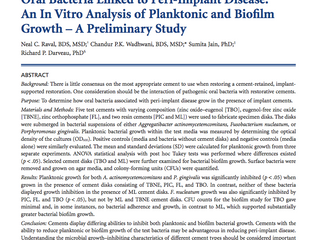 In-Vitro Analysis of Planktonic and Biofilm Growth