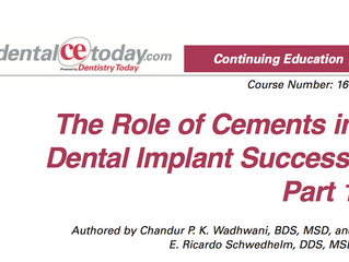 The Role of Cements in Dental Implant Success