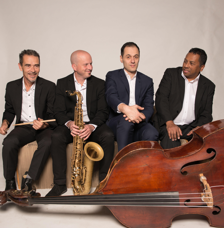 Clément Blumen Quartet avec Richard Razaf (piano)Antonio Tritta ( saxophone) et Thierry Tardieu ( ba