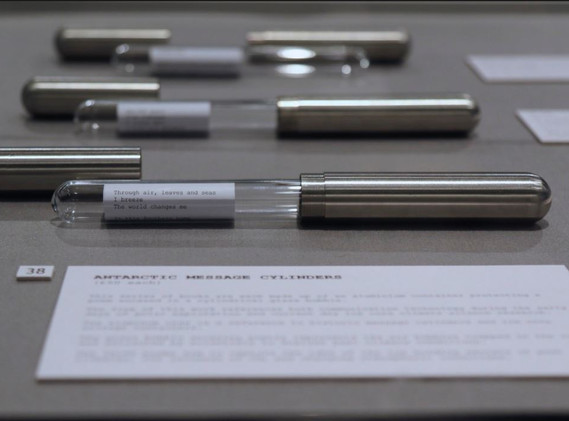 'Antarctic Message Cylinders', Barbican Library exhibition 2015