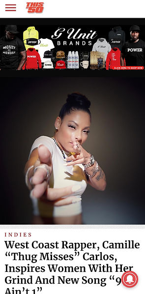 thug misses thugmisses thugmisses707 dathugmisses camille 99 u ain't 1 yfn 707 anthem bay area female rapper vallejo west coast new music 50 cent g unit tattoos latina black blaxican crop top hip hop