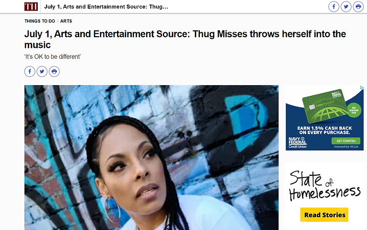 thug misses vallejo times herald camille carlos 707 anthem 99 u aint 1 yfn cypher 2 female rapper west coast bay area newspaper dathugmisses thugmisses707 darealthugmiss therealthugmisses queen of the bay eargazm graffiti