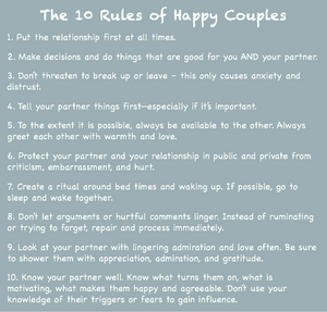 10 rules of happy couples PACT principles