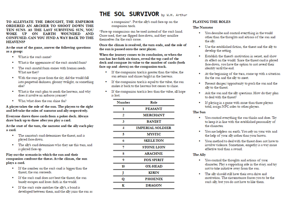 The Sol Survivor Mini-RPG beta