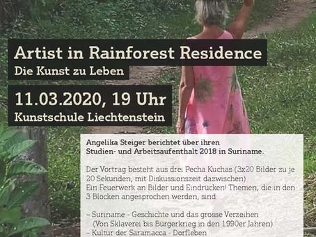 Vortrag in der Kunstschule Liechtenstein