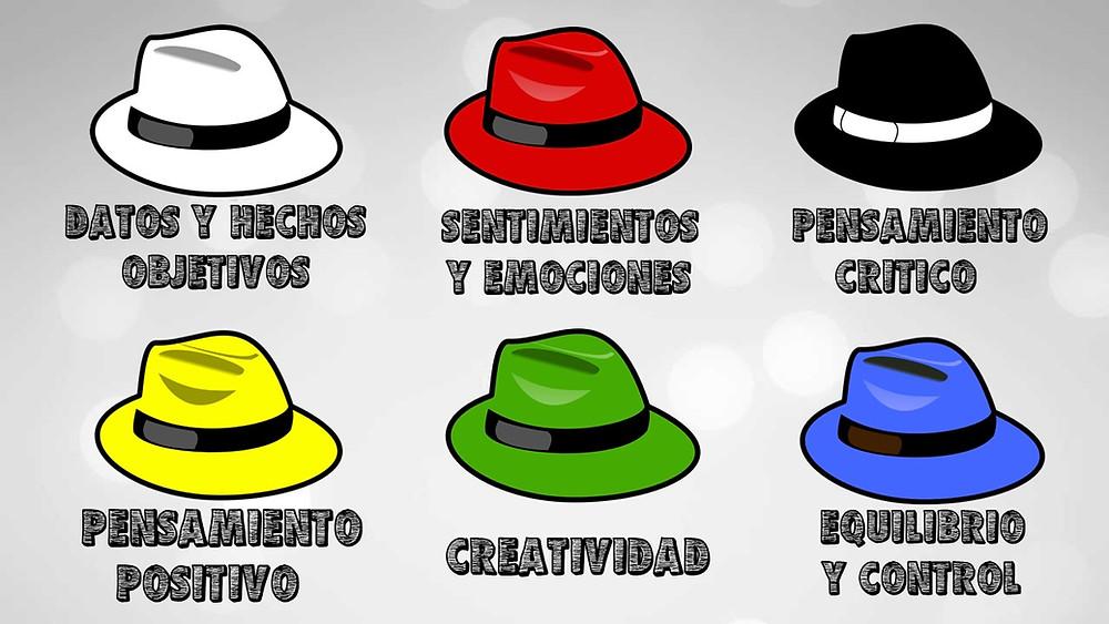 seis sombreros pensar