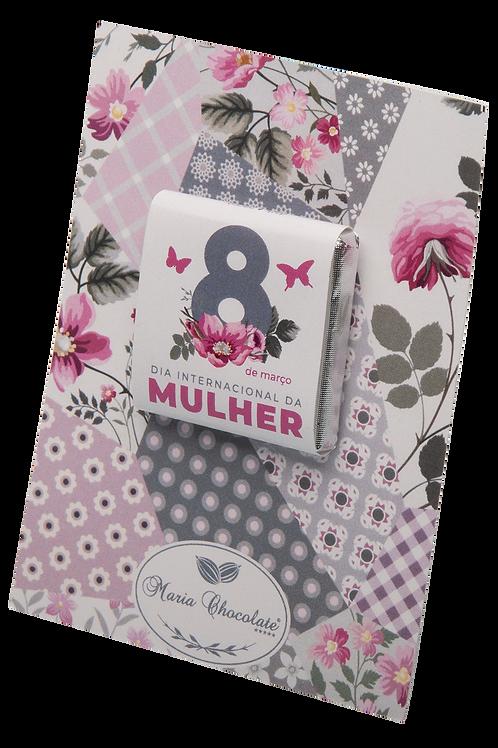 Cartão de chocolate - Especial Dia da Mulher