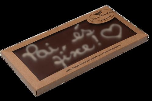 Tablete chocolate de leite  personalizada - Especial Dia do Pai
