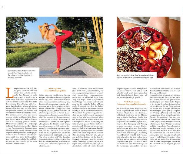 Sara Wragge Yoga Werder Bremen Bremissima Bremen Cover