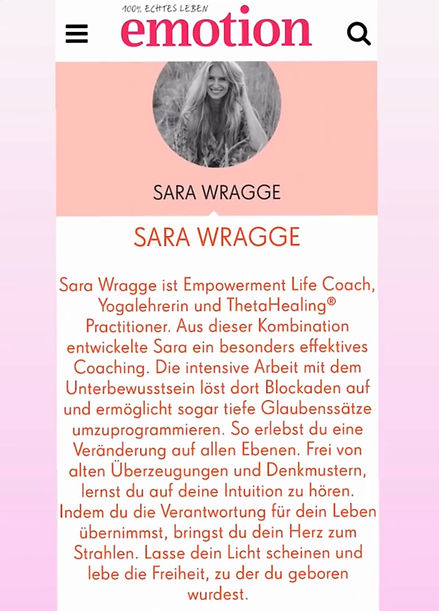 Sara Wragge Emotion Magazin Frauen Female Empowerment Hamburg