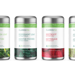 Brand Identity + Product Packaging - CLARKEsTEA
