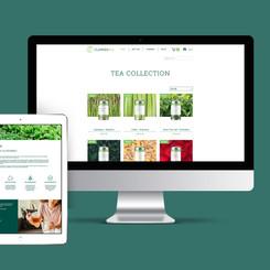 Brand Identity + Ecommerce Website Design - CLARKEsTEA