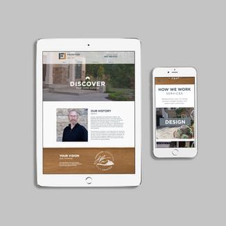 Brand Identity + Website - Frontier Landscapes