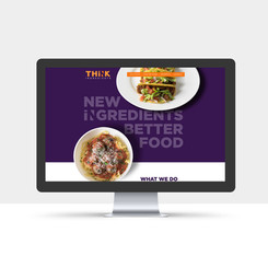 Brand Identity + Website for THiNK Ingredients