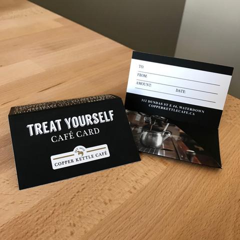 Gift Card Packaging Design for Copper Kettle Café