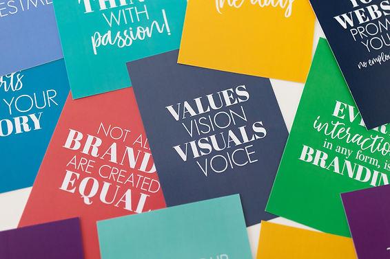 Values, Vision, Visuals, Voice