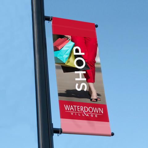 Waterdown Village Street Banners for Waterdown BIA