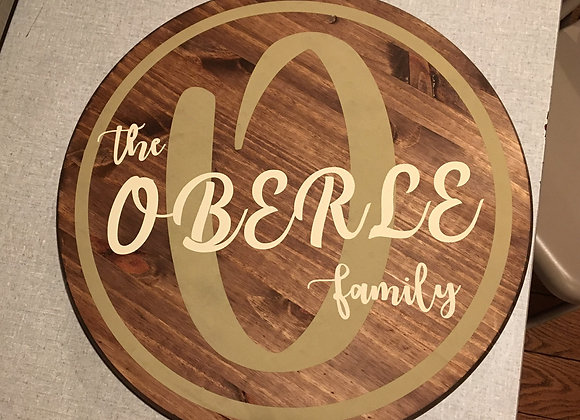 Circle Family Sign w/solid circle
