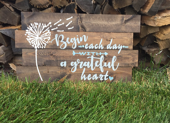 Dandelion Grateful Heart