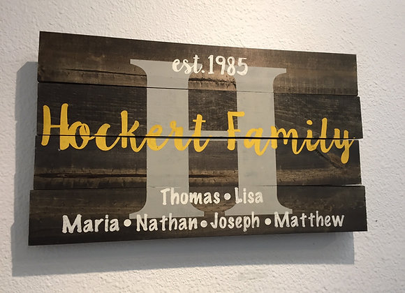 Family Sign w/Names