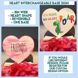 Interchangeable Base - heart