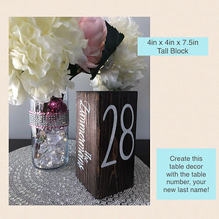 Tall Cube Table Number