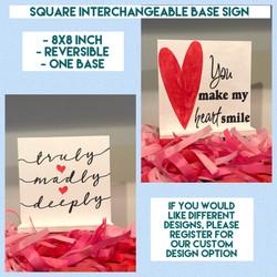 Interchangeable base - 8x8 Square